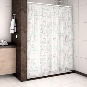 Cortina Para Box de Banheiro 180 x 200 - Geométrico