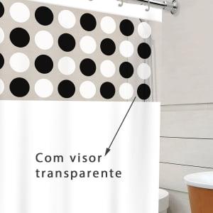 Cortina Para Box de Banheiro Maxeb L: 1,38 x A: 1,98m - Estampada