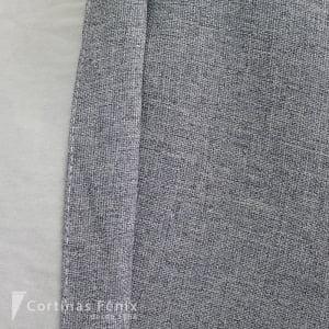 Tecido Blackout Rústico cor Cinza Jeans 100% Poliester 2,80m
