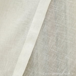Tecido Voil Cross Marfim Largura 3,00m