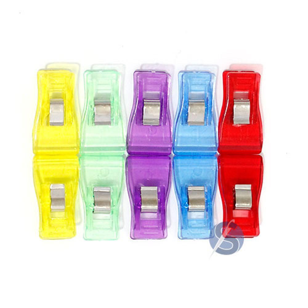 Clips Prendedores para Costura Patchwork Quilting cores diversas 10 unidades