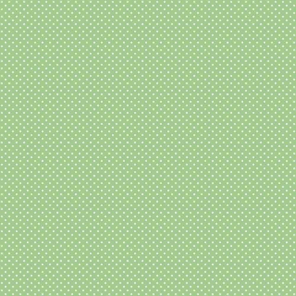Tecido Tricoline Verde Água Mini Poá Branco