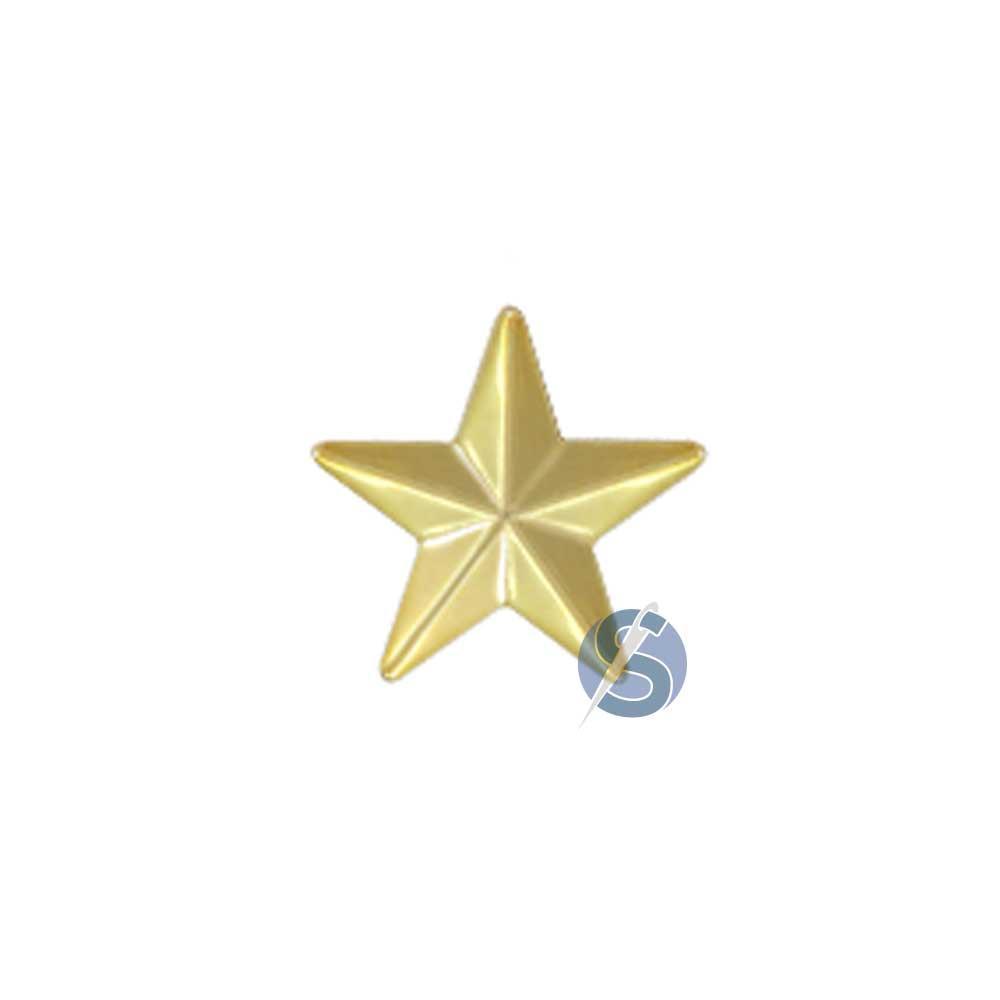 Botão Plástico Estrela Dourada 25 Unidades