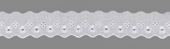 Bordado Inglês  Branco BP065 - 5cm x 13,70 metros