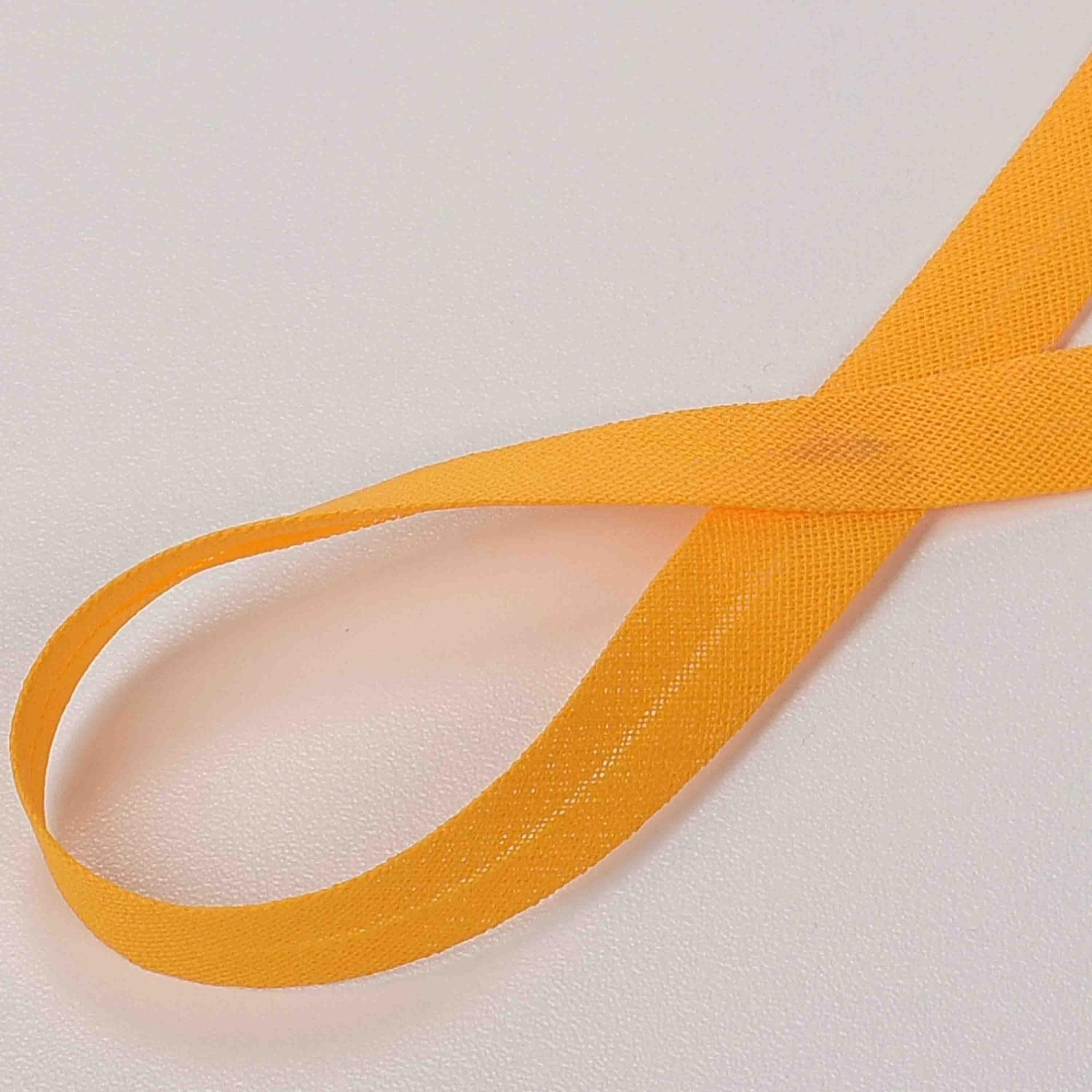 Viés de Algodão Amarelo Ouro 05 24 mm