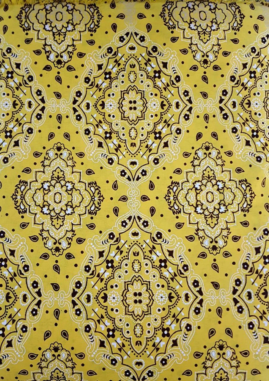 Tecido Bandana Amarelo Tricoline