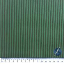 Tecido Tricoline Fundo Verde com Listras Preta