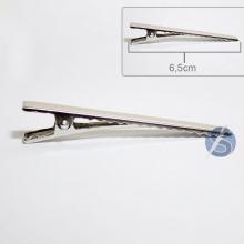 Bico de Pato Prata Metal - 50 unidades - 6,5cm