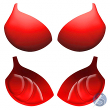 Bojo Simples Bolha - Vermelho