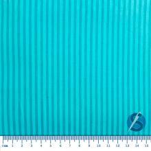 Tecido Tricoline Fundo Azul com Listra Verde