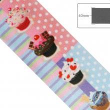 Fita de Cetim Cupcake - 40mm