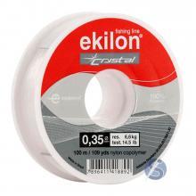 Linha de Nylon Pesca Ekilon Crystal 0,35mm 100m