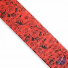 Fita de Gorgurão Rosa Vermelha 38mm
