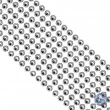 Cartela de Pérola Adesiva Prata - 6mm