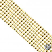 Cartela de Pérola Adesiva Dourada - 4mm