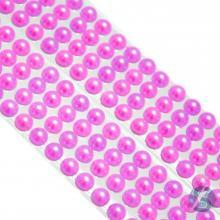 Cartela de Pérola Adesiva Pink - 8mm