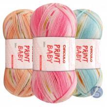 Lã Print Baby Circulo 100g