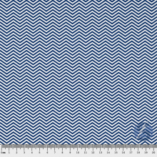 Tecido Tricoline Chevron Azul Marinho