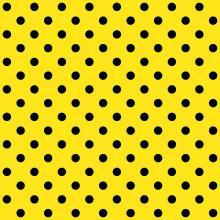Tecido Tricoline Amarelo Poá Grande Preto
