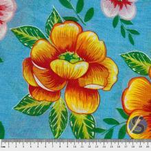 Chita Azul Flores Laranja e Rosas