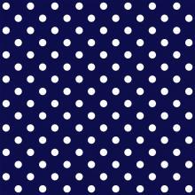 Tecido Tricoline Poá Grande Azul Marinho
