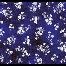 Tecido Tricoline Poeirinha Azul Flor