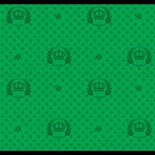 Tecido Tricoline Verde Coroas Ramos