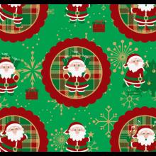 Tecido Tricoline Verde Papai Noel