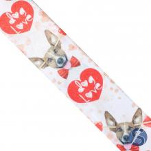 Fita de Cetim Branca Dog Love 38mm