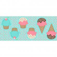 Tecido Tricoline Naninha Cupcake