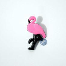 Botão Plástico Flamingo Rosa Chiclete com Preto 25 Unidades