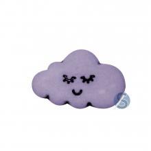Botão Plástico Nuvem Lilás 25 Unidades