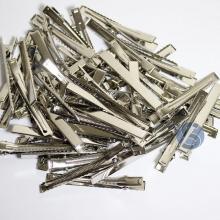 Bico de Pato Prata Metal - 50 unidades - 7,5cm