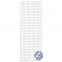 Cartela de Pérola Adesiva Branca - 5mm