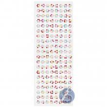 Cartela de Strass Adesivo Flor Colorida - 10mm