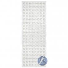 Cartela de Strass Adesivo Flor Branca - 10mm