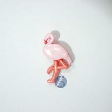 Botão Plástico Flamingo Rosa com Salmão 25 Unidades
