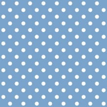 Tecido Tricoline Azul Bebê Poa Médio Branco - Cópia (1)