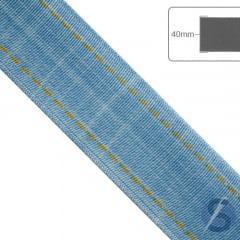 Fita de Gorgurão Jeans Claro - 40mm