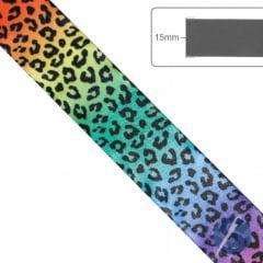 Fita de Cetim Oncinha Multicolor Gitex 15mm