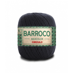 Barbante Barroco Maxcolor nº4 8990 Preto  200gr