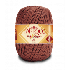 Barbante Barroco Maxcolor nº6 7738 Café 400g
