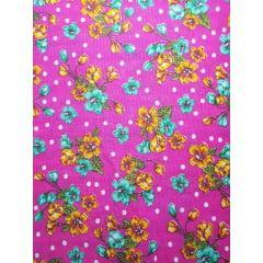 Tecido Chita Pink Floral