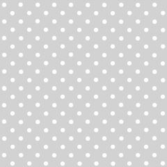 Tecido Tricoline Cinza Poá Pequeno Branco