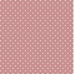 Tecido Tricoline Rosa Chá Escuro Mini Poá Branco