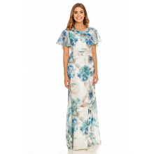 Vestido Longo Floral Azul 194315