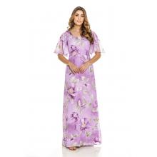 Vestido Longo Floral Roxo 194231