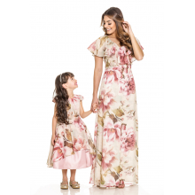Vestido Infantil Floral Rosa 194216