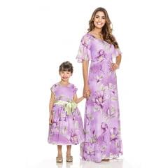 Tal Mãe Tal Filha Floral Lilás