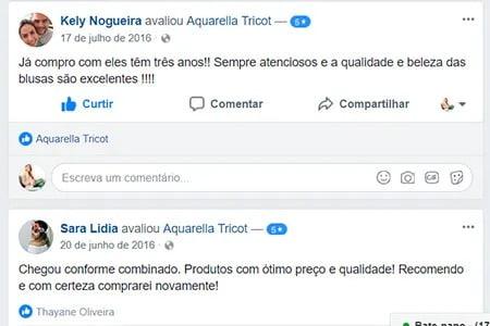 Depoimentos para Aquarella Tricot